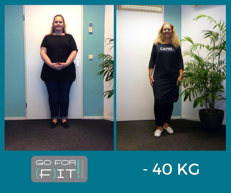 40 kilo afvallen zonder operatie